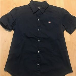 Women's Vintage Polo Jeans ShortSleeve Button Down